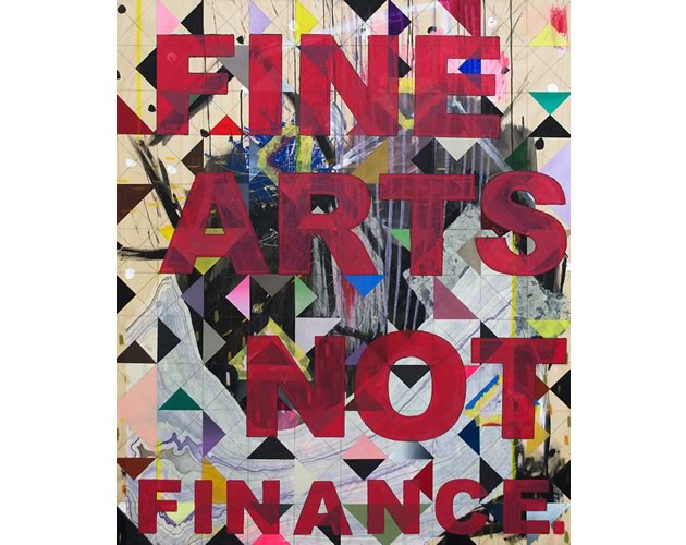 "Fine Arts Not Finance (series) 36 x 30"" ~ by Russna Kaur"