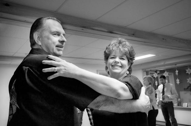 Dance class enthusiasts Bob and Kim Pearson. Photo by Rosemary Hasner / Black Dog Creative Arts.