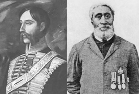 Left : Alexander Roberts Dunn, VC (1833–1868) Right : William Hall, VC (1827–1904)