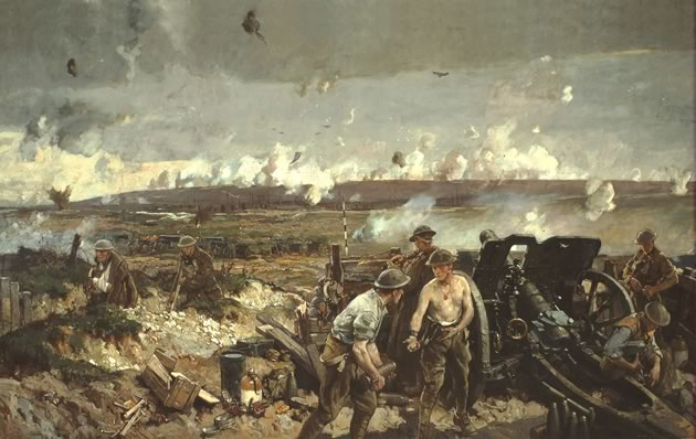 """The Taking of Vimy Ridge, Easter Monday 1917"" by Richard Jack"
