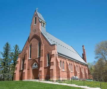 In Silver Creek, St Cornelius Church and the schoolhouse, since converted to a residence, are all that remain of the bustling village.