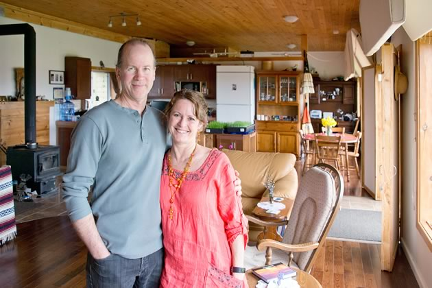 The Krugers own most of the appliances found in a conventional home though all are the most energy efficient available and some they only use on sunny days. Brad designed the insulated window coverings that preserve the heat in winter and keep the house cool in summer. Photo by Pete Paterson.