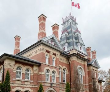 The Classic Revival style of the Dufferin County Court House was designed to impress the citizenry with the authority of the judiciary. Photo by Rosemary Hasner / Black Dog Creative Arts.