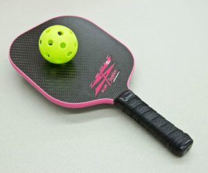You'll completely miss the ball until you get used to the shorthandled pickleball paddle. Photo by Pete Paterson.