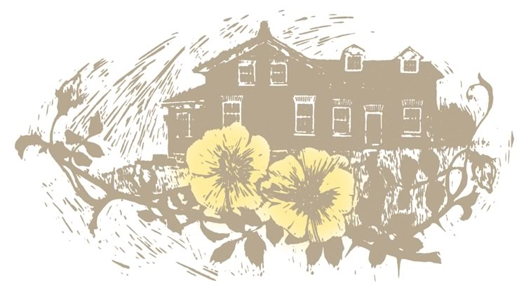 This illustration of Mitchell's childhood home and the setting for the novel, the Yellow Briar homestead on Mono's 5th Line, is by Alan Daniel, reprinted from the 1970 edition of the book.