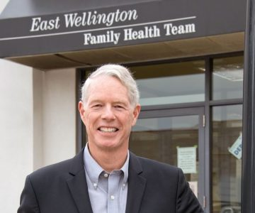 John Wilson headed the development team that established and built the new clinic in Erin. Photo by Pete Paterson.