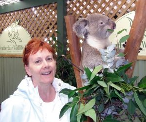 On her first solo trip, Barbara McKenzie had the pleasure of feeding a koala at the Sydney Zoo in Australia.