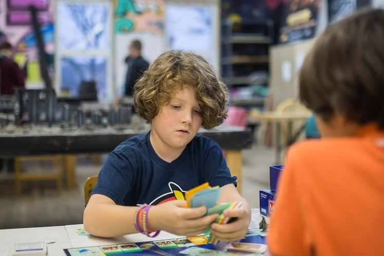 Families can test out new board games for free on Wednesday nights at Orangeville's Koros Games. Photo by James MacDonald.