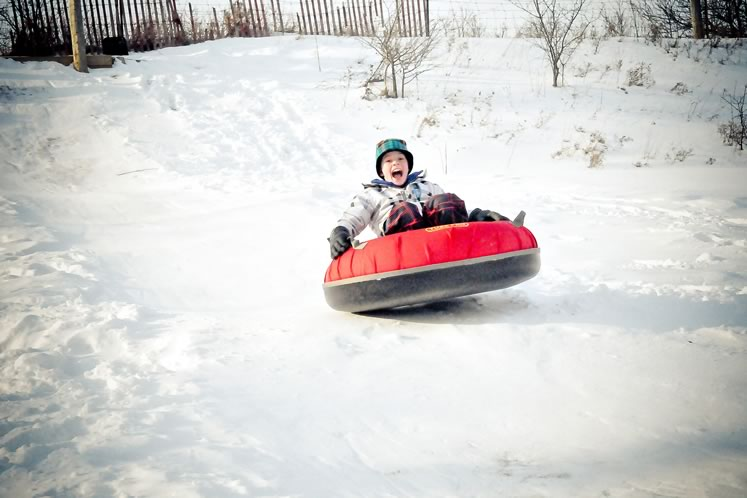 Try out snow tubing at Teen Ranch and fat biking at Albion Hills Conservation Area. Photo courtesy Teen Ranch.