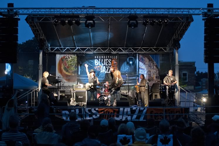 The Orangeville Blues and Jazz Festival draws more than 30,000 visitors to the town in early June. Photo by Pete Paterson.