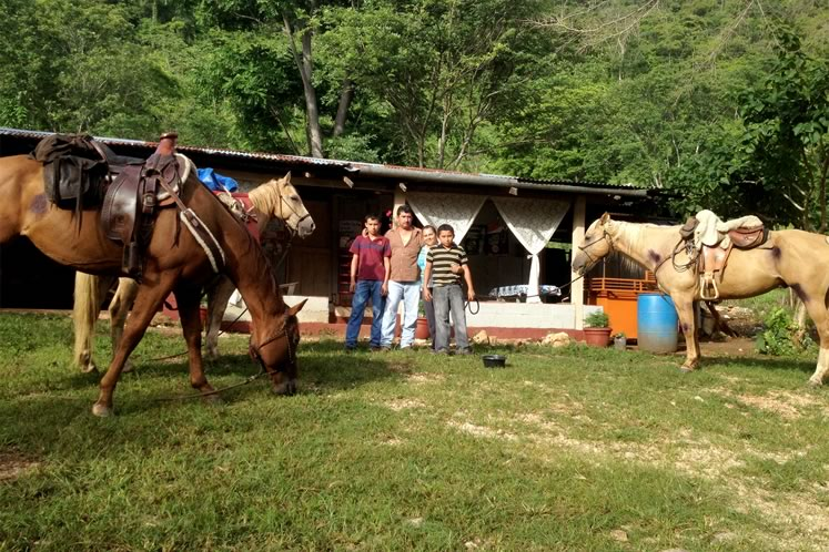 Hessler Reyes Dones and his family offered hospitality to Filipe and his horses in northern Guatemala. Courtesy Filipe Leite.