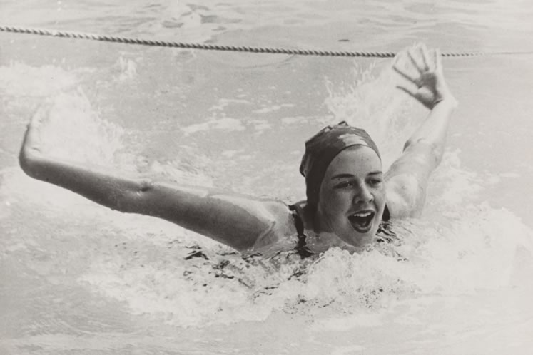 At 19, Virginia competed for Canada in the 1956 Olympic Games and swimming remained one of her lifelong passions.