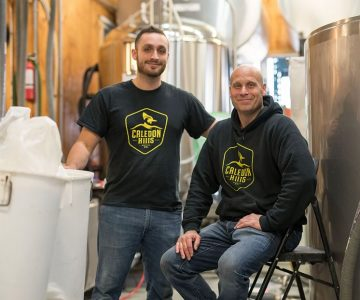 Stefan and son Sebastian work harmoniously together in their chock-a-block brewery. Photo by James MacDonald.