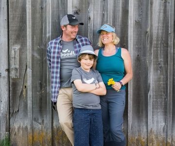 Phil and Gail Winters and their son Will. Photo by James MacDonald.