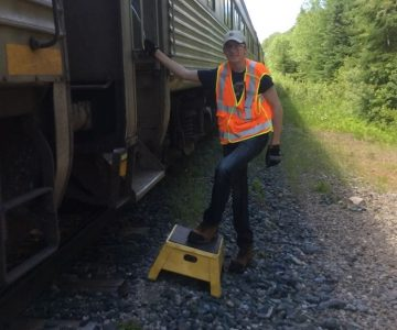 Journalist Warren Schlote considers himself a railfan. Here's how he parlayed his love of trains and railways into a stint as a real-life conductor.
