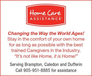 Home Care Assistance Serving the Communities of: Caledon, Brampton, Dufferin and Surrounding Areas