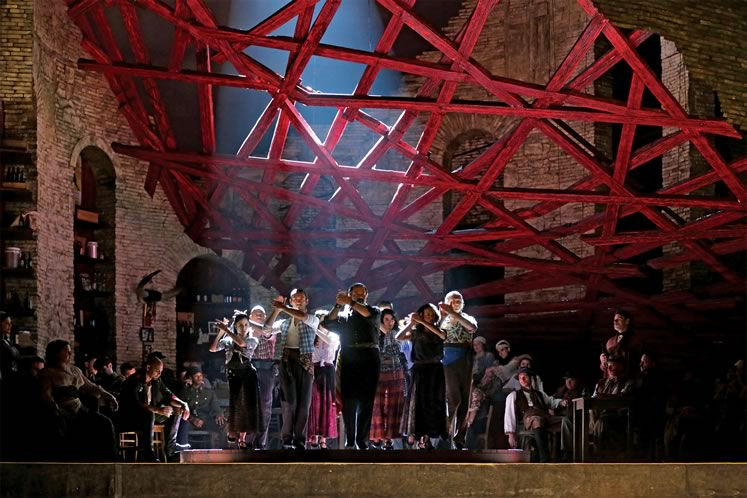 A scene from the Metropolitan Opera's production of Carmen. Photo courtesy Metropolitan Opera.