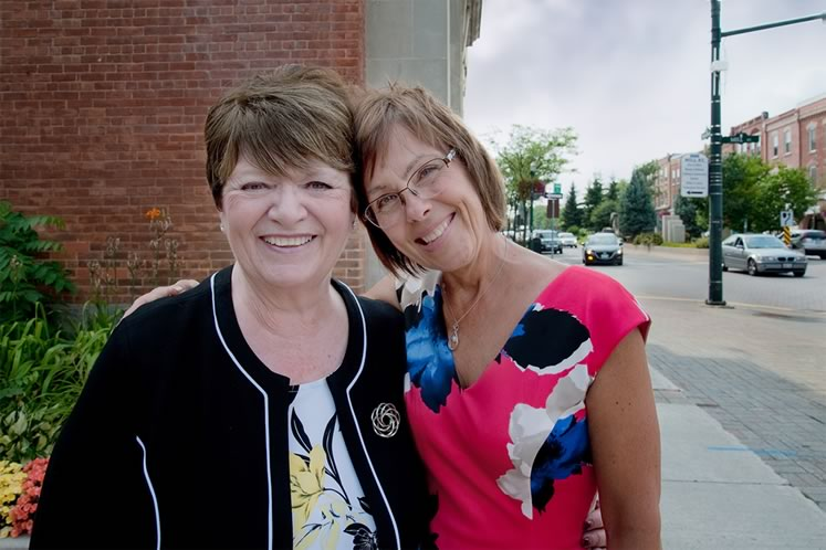 Mary Rose (left) and Darla Fraser are two driving forces behind the effort to make Orangeville a welcome place for seniors. Photo by Rosemary Hasner / Black Dog Creative Arts.