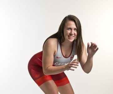 Wrestling Champ: Nicole French, 19, Albion. Photo by Pete Paterson.