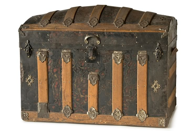 A trunk that once held the worldly possessions of Barnardo child Ada Lamb. Photo by Pete Paterson.