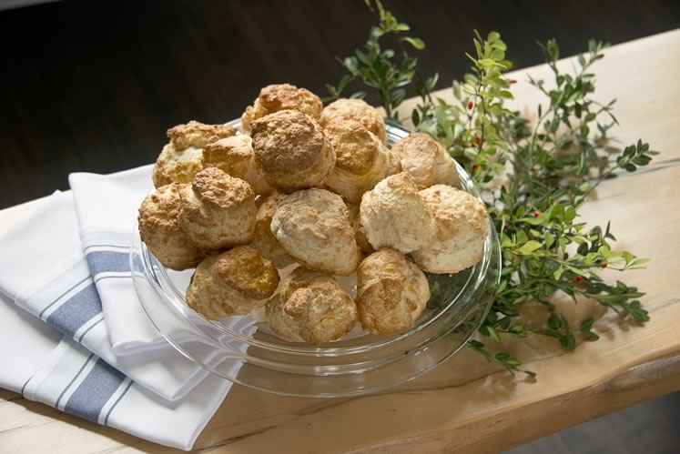 The tea biscuits at The Globe Restaurant are light and flakey with a hint of sweetness. Photo by Pete Paterson.