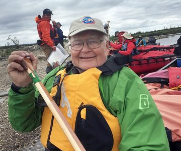 John Wheelwright, 89, paddled 300 kilometres on the Upper Horton River north of the Arctic Circle this past summer. Courtesy Pate Neumann.