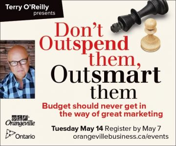Terry O'Reilly presents Don't Outspend them, Outsmart them
