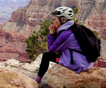 After her husband's death, Kathryn MacDuffee determined to make the best of the new phase in her life. Hiking expeditions with friends included a trip to the Grand Canyon in 2015. Photo by Rosemary Hasner / Black Dog Creative Arts.
