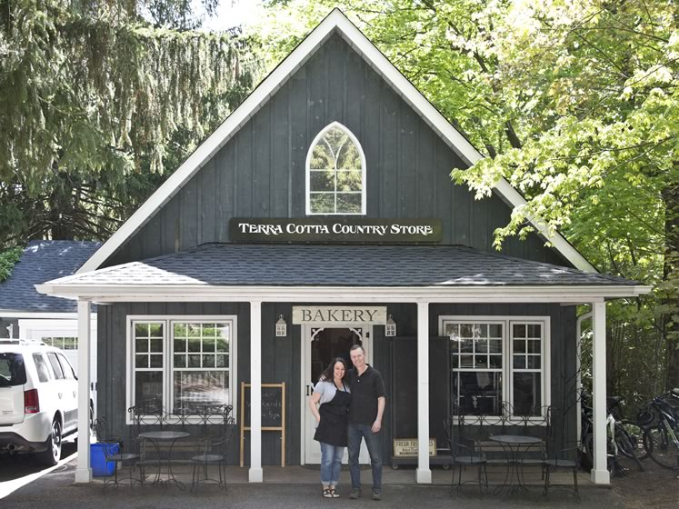 Terra Cotta Country Store. Owners Judy Vella and Bob McCloskey have offered coffee, baking and feel-good shopping in a charming locale for more than 20 years. Photo by Pete Paterson.