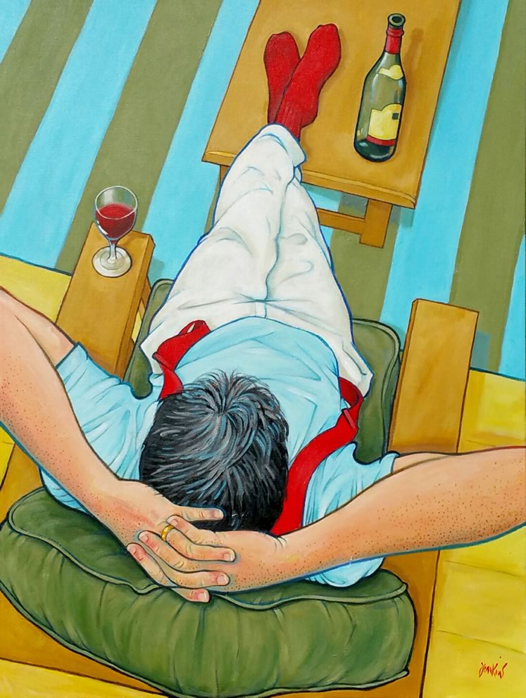 "Leisure III 40"" x 30"" Acrylic on canvas ~ by Anthony Jenkins"