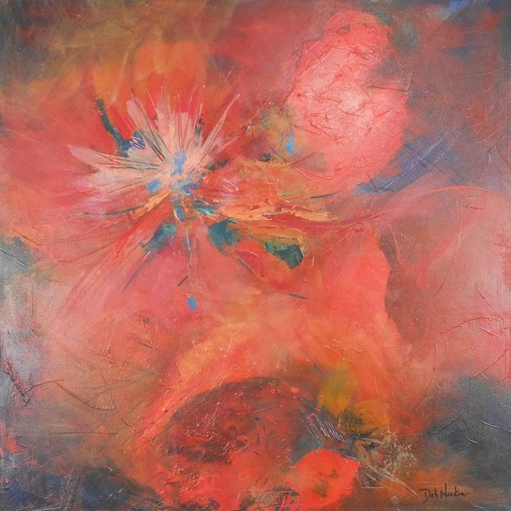 """Deb Menken~ Emergence30"""" x 30""""acrylic"""
