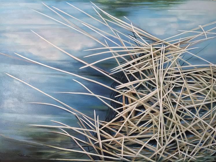 "Sonja Mortimer~ Quiet Chaos36"" x 48""acrylic"