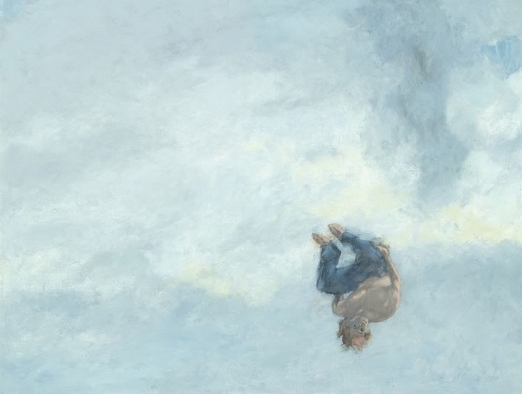 "Upside-Down in the Sky 28"" x 34"" Oil on canvas, panel ~ by Gita Karklins"