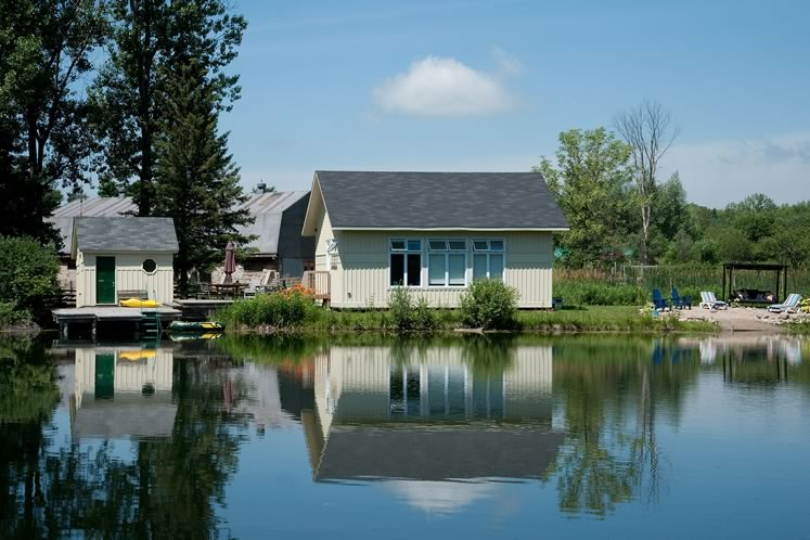 Sandy's Pond Side Pilates studio was built in 2017 at the edge of one of the property's two ponds. Photo by Rosemary Hasner / Black Dog Creative Arts.