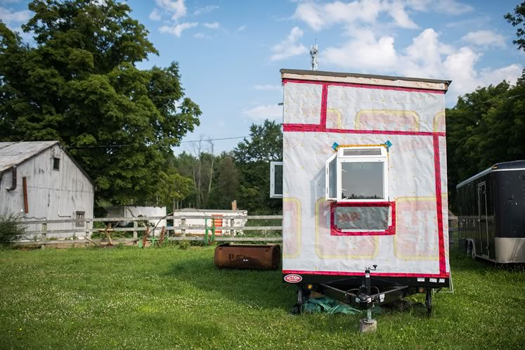 The exterior of Alyssa Marchment's tiny house on wheels. Photo by James MacDonald.