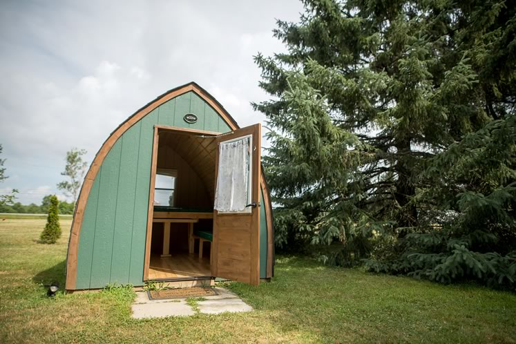 A Güte cabin at the Leisure Time Park near Palgrave. Photo by James MacDonald.