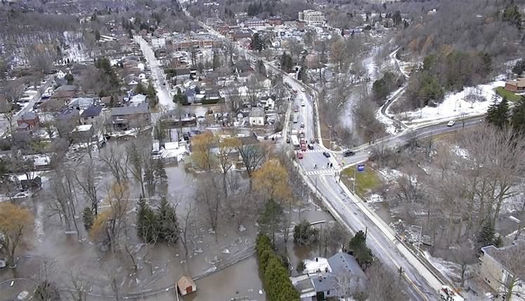 Caledon activated its Community Emergency Response Plan when the Humber River overflowed its banks in March this year, flooding nearly 120 homes. Courtesy Brampton Fire and Emergency Services.