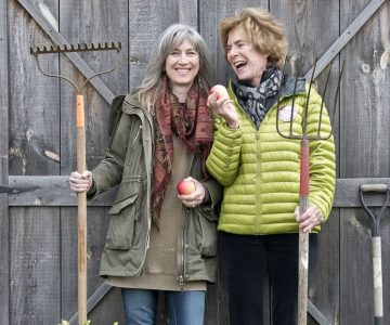Jennifer Payne (left) and Marci Lipman dream big for Headwaters Food and Farming Alliance. Photo by Pete Paterson.
