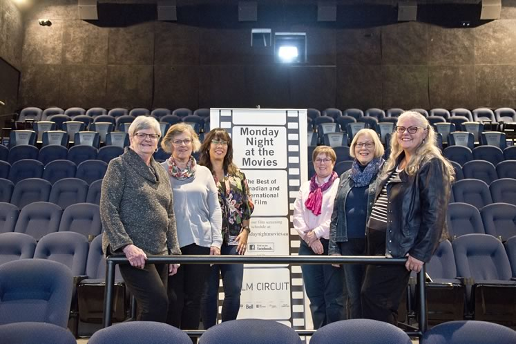 The Monday Night at the Movies committee (l–r): Sharon O'Donovan, Janet VanderPloeg, Robina Lord-Stafford, Andrea Stewart, Brenda Stephen, Pam Church. Photo by Pete Paterson.