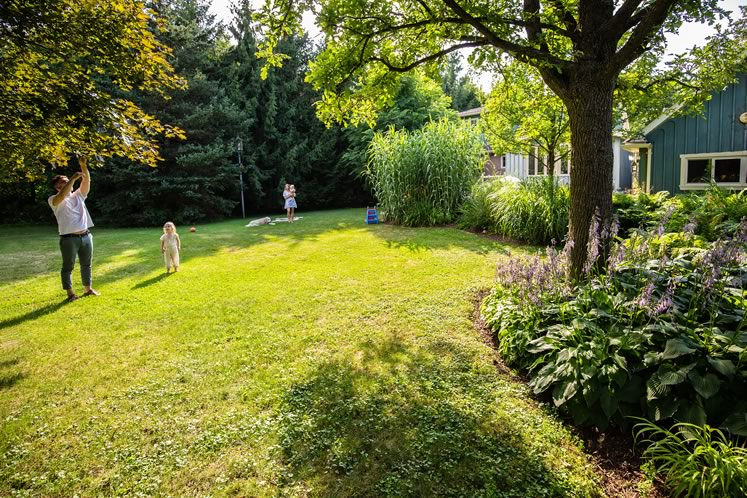 The expansive yard extends the family's living space. Photo by Erin Fitzgibbon.