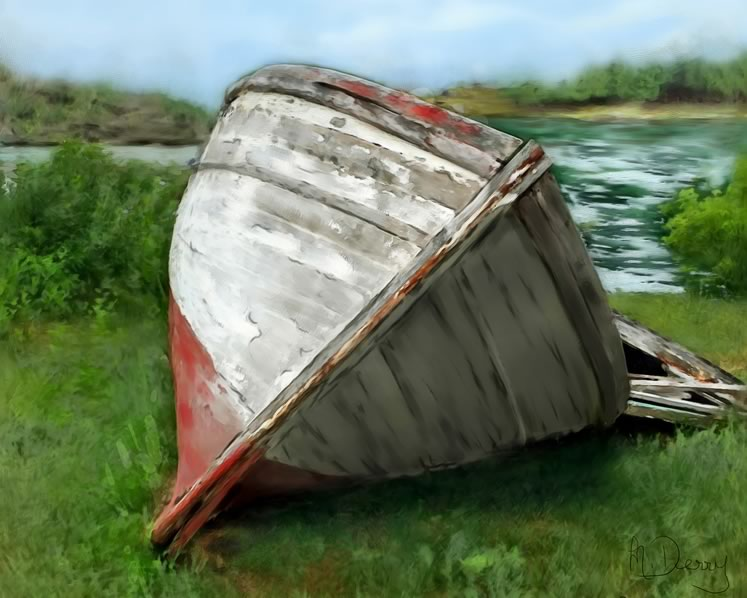 Retired fishing boat~ by Margaret Derry