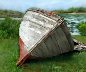 Retired fishing boat ~ by Margaret Derry