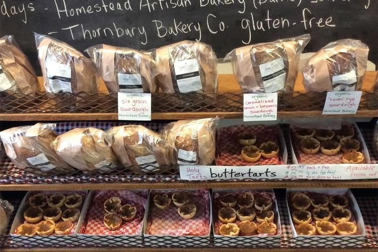 Bread and other baked delights at Creemore 100 Mile Store. Photo courtesy Creemore 100 Mile Store.