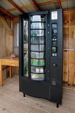Maple Grove Farm's vending machine in Mansfield. Photo by Rosemary Hasner / Black Dog Creative Arts.