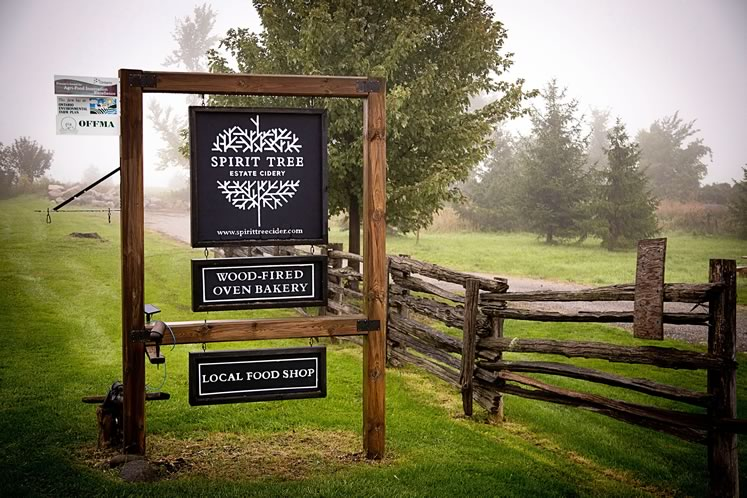 The entrance at Spirit Tree Estate Cidery. Photo by Sarah Rutka.