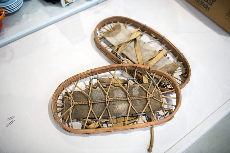 Snowshoes at Erin Auctions. Photo by James MacDonald.