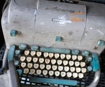 Underwood typewriter at Erin Auctions. Photo by James MacDonald.