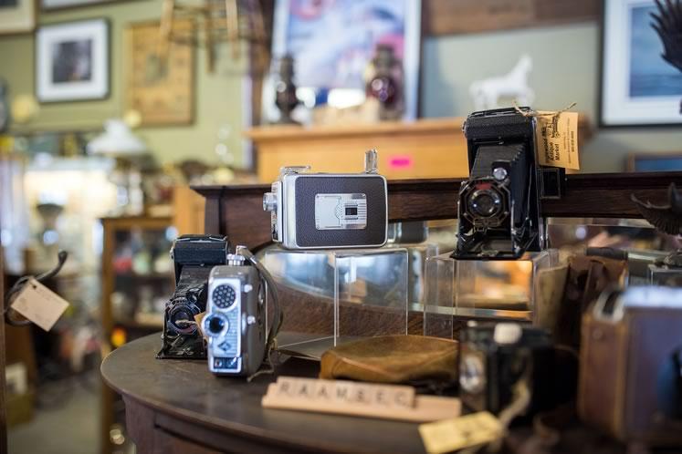 Cameras at Inglewood Antique Market. Photo by James MacDonald.