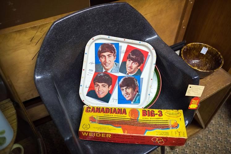 Beatles memorabilia at Inglewood Antique Market. Photo by James MacDonald.