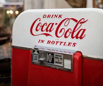 Coca-Cola machine at Orangeville Flowers & Greenhouses. Photo by James MacDonald.